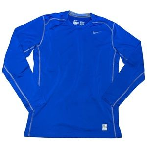 Nike Pro Combat Hyperwarm Fitted Dri-Fit Top Large
